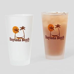 Daytona Beach - Palm Trees Design. Drinking Glass