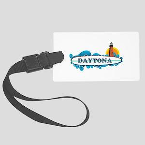 Daytona Beach - Surf Design. Large Luggage Tag