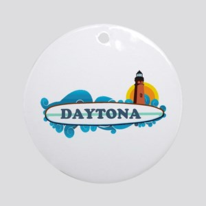 Daytona Beach - Surf Design. Ornament (Round)