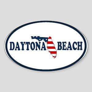 Daytona Beach - Map Design. Sticker (Oval)