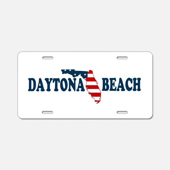 Daytona Beach - Map Design. Aluminum License Plate