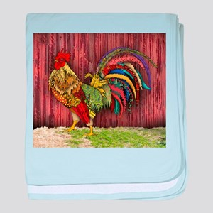 Rooster by the Barn baby blanket