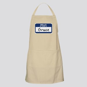 Hello: Grace BBQ Apron