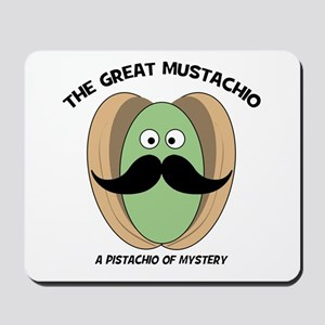 The Great Mustachio Mystery Pistachio Mousepad