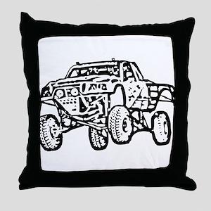 Jump Truck Throw Pillow