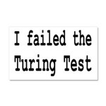 I Failed The Turing Test Computer Car Magnet 20 x