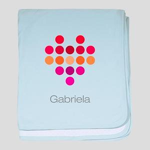 I Heart Gabriela baby blanket
