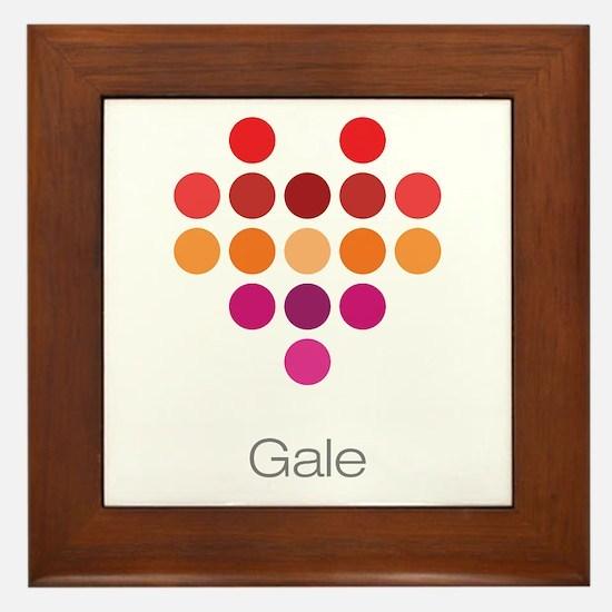 I Heart Gale Framed Tile