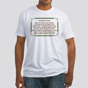 Balanced Wiccan Rede Fitted T-Shirt