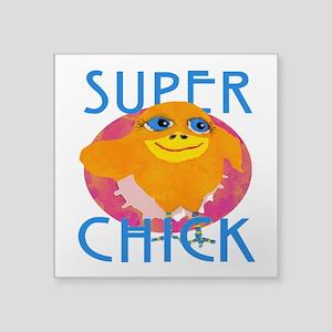 Funny Super Chick Sticker