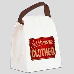 Sorry-CLOTHED Canvas Lunch Bag