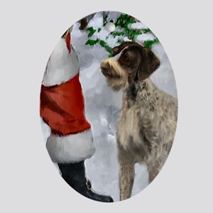 German Wirehaired Pointer Christmas Oval Ornament