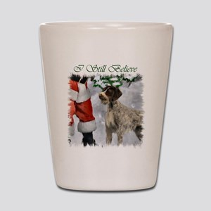 German Wirehaired Pointer Christmas Shot Glass