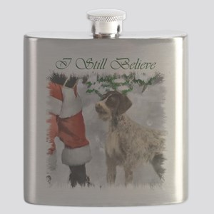 German Wirehaired Pointer Christmas Flask