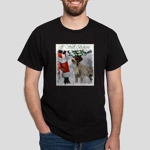 German Wirehaired Pointer Christmas Dark T-Shirt