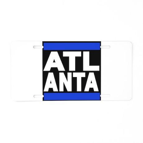 atlanta blue Aluminum License Plate