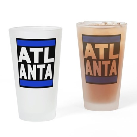atlanta blue Drinking Glass