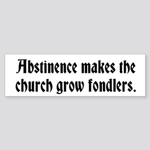 Abstinence Sticker (Bumper)