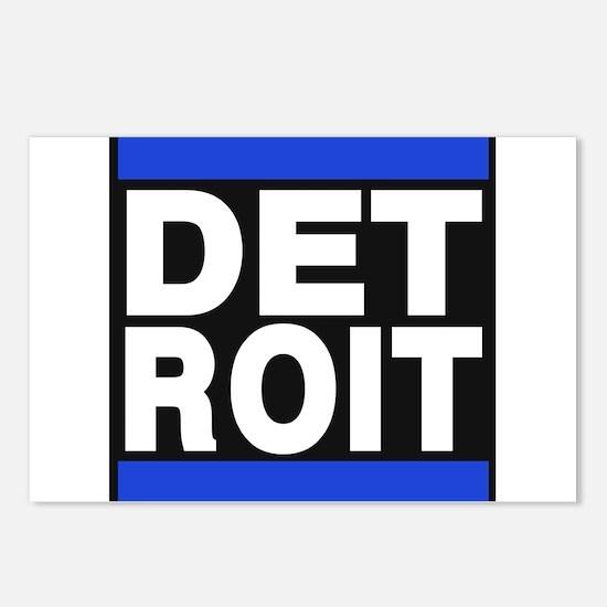 detroit blue Postcards (Package of 8)