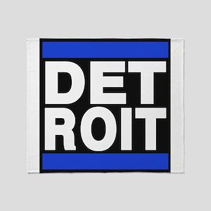 detroit blue Throw Blanket