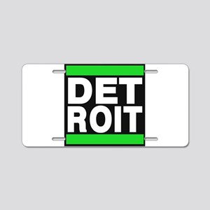 detroit green Aluminum License Plate