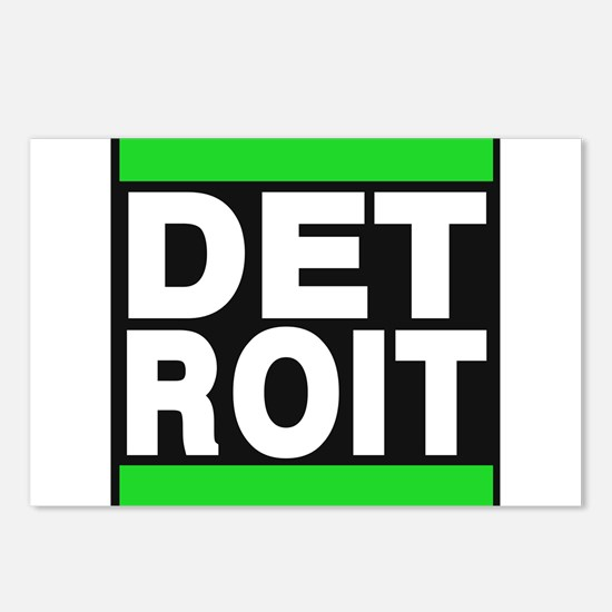 detroit green Postcards (Package of 8)