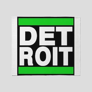 detroit green Throw Blanket