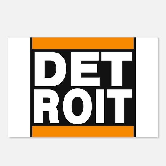 detroit orange Postcards (Package of 8)
