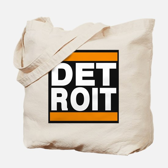 detroit orange Tote Bag