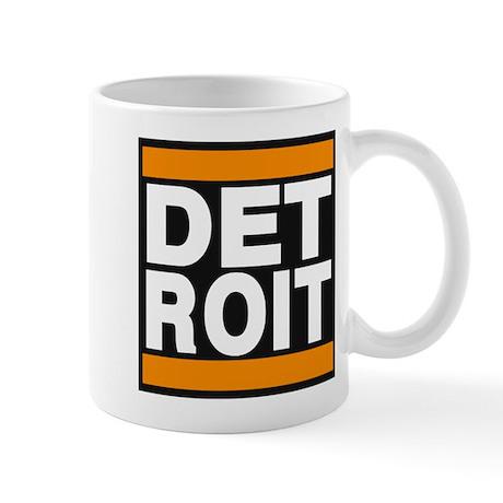 detroit orange Mug