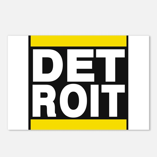 detroit yellow Postcards (Package of 8)