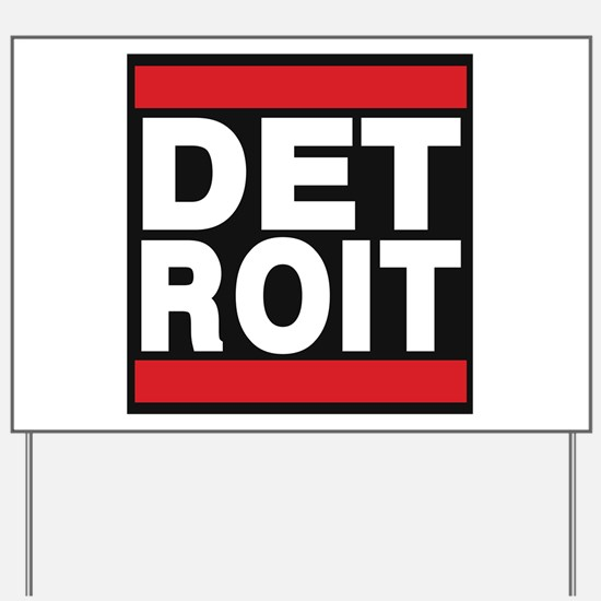 detroit red Yard Sign