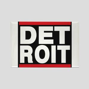 detroit red Rectangle Magnet