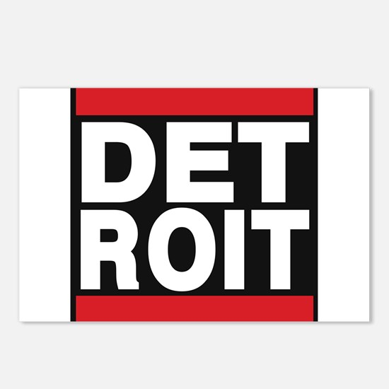 detroit red Postcards (Package of 8)