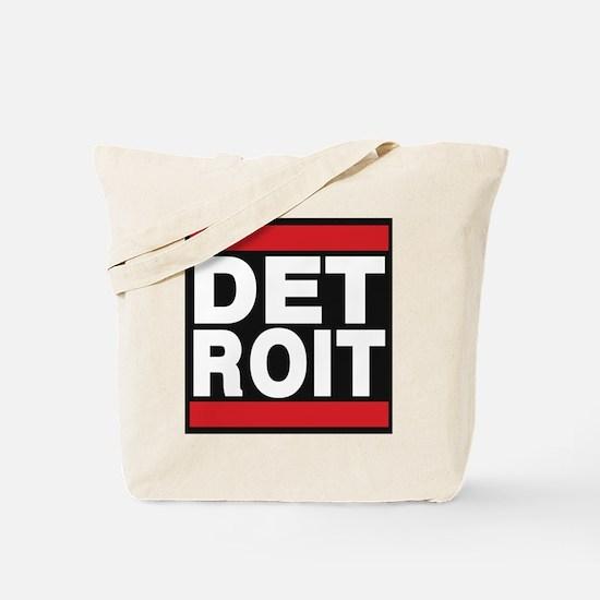 detroit red Tote Bag