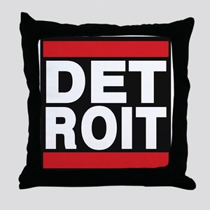 detroit red Throw Pillow