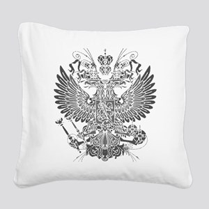Byzantine Eagle Square Canvas Pillow