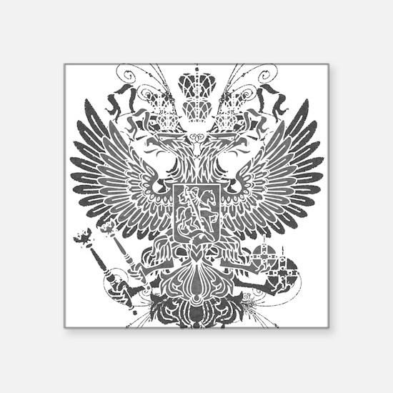 "Byzantine Eagle Square Sticker 3"" x 3"""