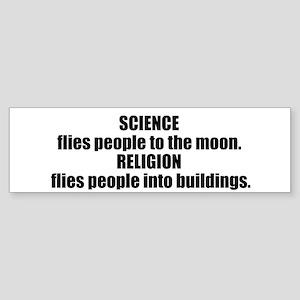Science Flies Sticker (Bumper)