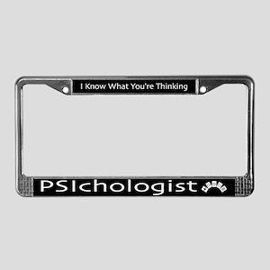 PSIchologist License Plate Frame