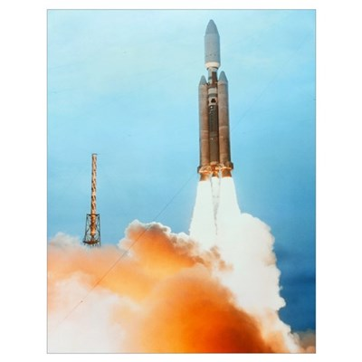 Launch of a Titan IV rocket Poster