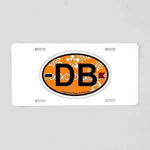 Daytona Beach - Oval Design. Aluminum License Plat