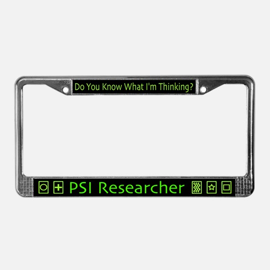 PSI Researcher License Plate Frame