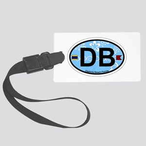 Daytona Beach - Oval Design. Large Luggage Tag