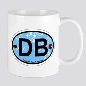 Daytona Beach - Oval Design. Mug