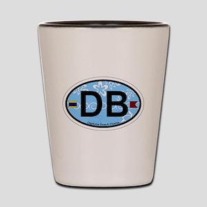 Daytona Beach - Oval Design. Shot Glass