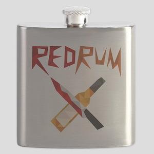 Official RedRum Podcast Logo - Transparent Flask