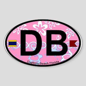 Daytona Beach - Oval Design. Sticker (Oval)