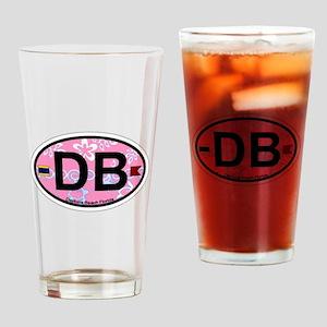 Daytona Beach - Oval Design. Drinking Glass