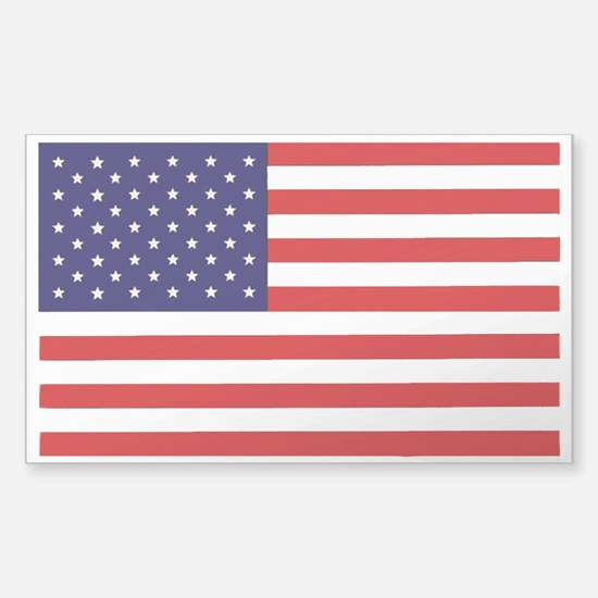 American Flag Sticker (Rectangle 10 pk)